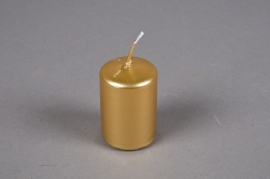 A079E2 Box of 24 candles gold D4cm H6cm