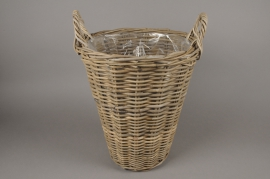 A079NM Rattan baskets planter D37cm H42cm
