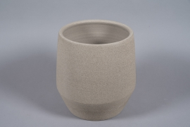 A079T3 Pot en béton taupe D33cm H36cm