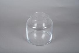 A079W3 Vase en verre D19cm H18.5cm