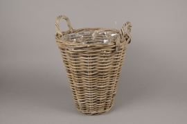 A080NM Rattan baskets planter D33cm H37cm