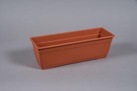 A080NT Terracotta plastic planter 50x17 H16cm