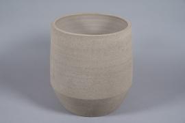 A080T3 Light brown concrete pot D38cm H43cm