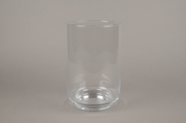 A080W3 Vase cylindre en verre D18cm H28cm