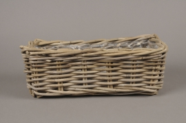 A081NM Wicker baskets with handle 16x40cm H15cm