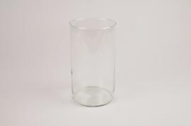A081R4 Glass cylinder vase D11cm H20cm