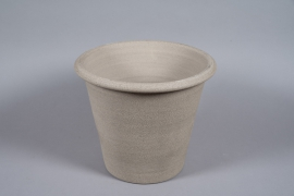 A081T3 Pot en béton taupe D42cm H35cm