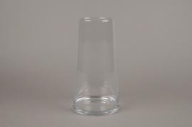 A081W3 Vase en verre resserré D16cm H30cm