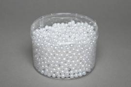 A082MG Boîte de 1200 perles blanches D8mm