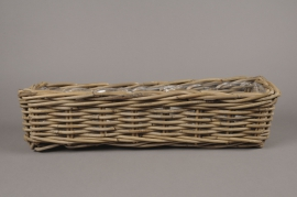 A082NM Wicker baskets with handle 16x60cm H15cm