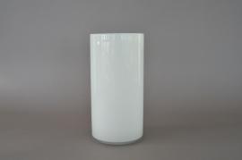 A082PS Vase cylindre en verre blanc D15cm H30cm