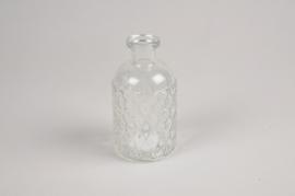 A082R4 Vase en verre D6.5cm H13cm