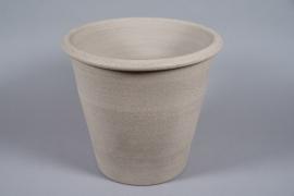 A082T3 Pot en béton taupe D46cm H42cm