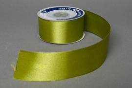 A082UN Satin ribbon green 40mm x 25m
