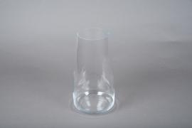 A082W3 Glass vase D15cm H30.5cm