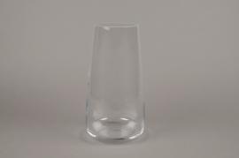 A082W3 Vase en verre D15cm H30.5cm