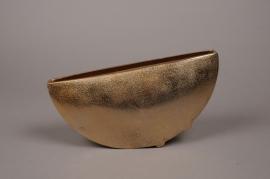 A083BV Gold metal vase  25x7cm H18cm