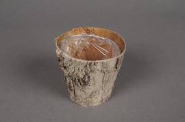 A083DZ Cache-pot en écorce bois D7cm H7cm