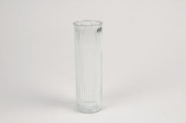 A083R4 Glass vase D6cm H20cm