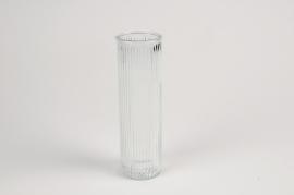 A083R4 Vase en verre D6cm H20cm