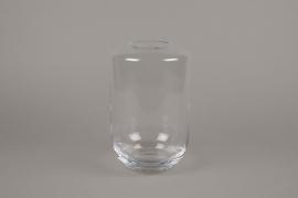 A083W3 Vase en verre obus D16cm H25cm