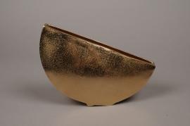 A084BV Gold metal vase 30x7cm H20cm