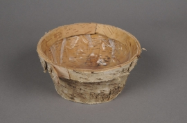 A084DZ Planter wood bark D15cm H8cm