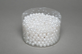 A084MG Boîte de 600 perles blanches 10mm