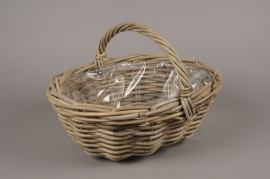 A084NM Wicker baskets with handle 37x31cm H16cm