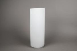 A084PS White glass cylinder vase D15cm H40cm