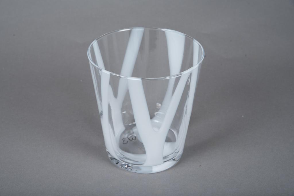 A084W3 Vase en verre conique D15cm H16cm