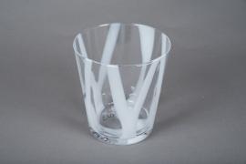 A084W3 Glass vase D15cm H16cm
