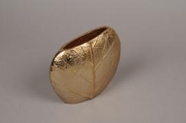 A085BV Gold metal vase D18cm H16cm