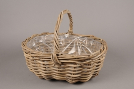 A085NM Wicker baskets with handle 45x37cm H18cm