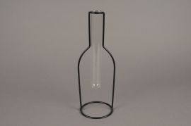 A085PM Glass bud vase with metal stand H30cm