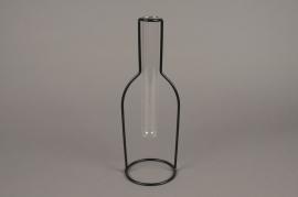 A085PM Soliflore en verre support métal H30cm