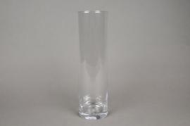 A085PQ Cylinder glass vase D10cm H35cm