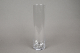 A085PQ Vase verre cylindre D10cm H35cm