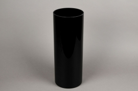 A085PS Black cylinder glass vase D15cm H40cm