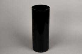 A085PS Vase cylindrique en verre noir D15cm H40cm