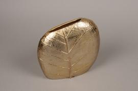 A086BV Gold metal vase D24cm H24cm