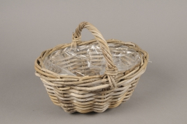 A086NM Wicker baskets with handle 36x28cm H14cm