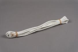 A086UN Corde de coton blanc 1.3cm x 6m