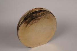 A087BV Vase en métal or H37cm