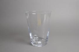 A087I0 Vase en verre évasé D20cm H26cm