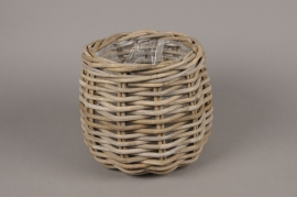 A087NM Rattan baskets planter D25cm H23cm