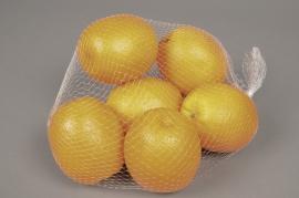 a087nn Filet de 6 oranges artificielles D7cm