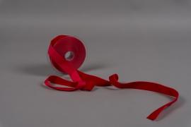 A087UN Red velvet ribbon 25mm x 9m