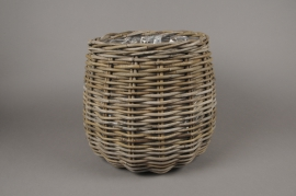 A088NM Wicker baskets planter D35cm H32cm