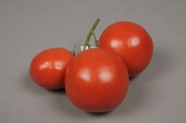 a088nn Grappe de 3 tomates artificielles rouge